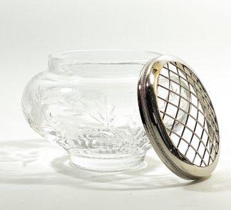 Хрустальная ваза роузбол