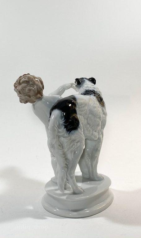 Статуэтка Путти с борзой Rosenthal Вид 3