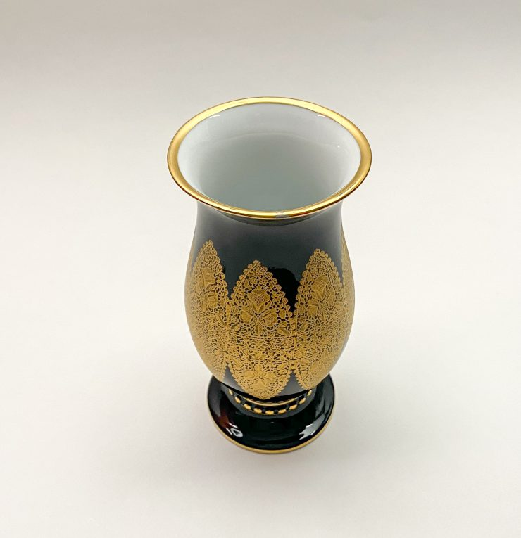 Кобальтовая ваза Hutschenreuther Вид 1