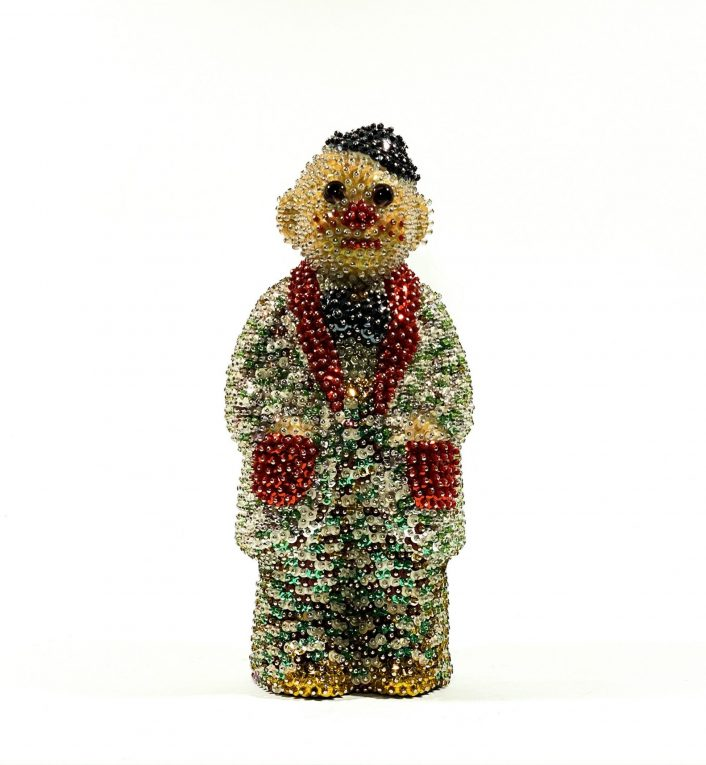 Винтажная фигурка клоуна