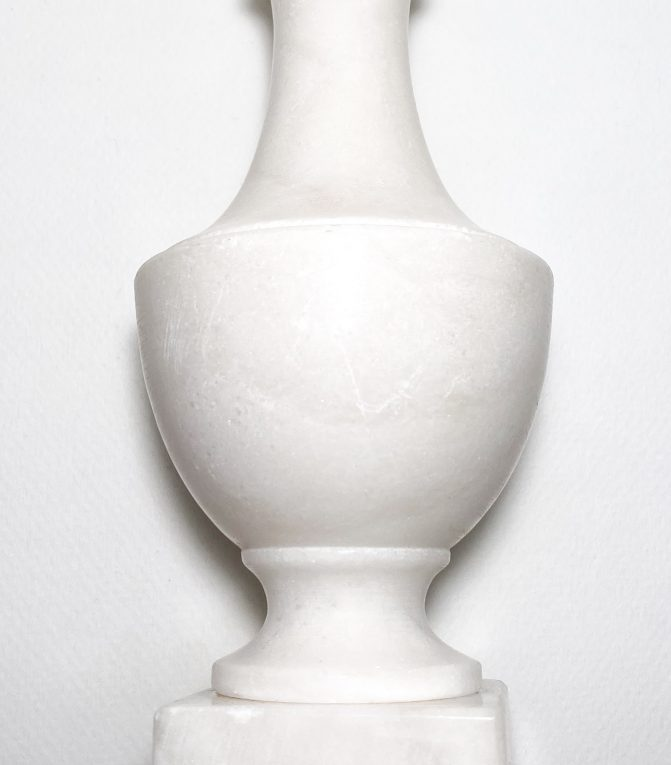 Мраморное основание для настольной лампы Вид 1