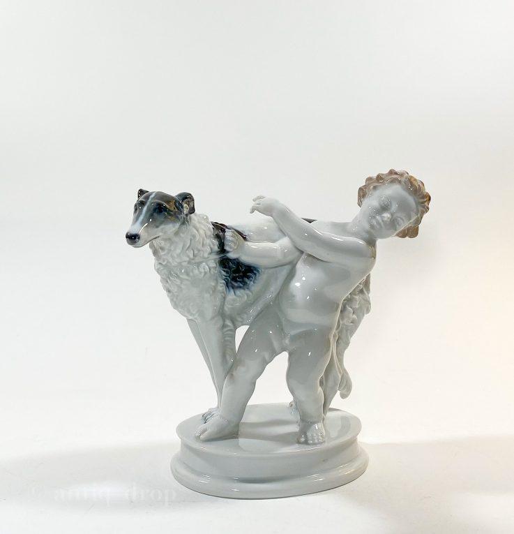Статуэтка Путти с борзой Rosenthal