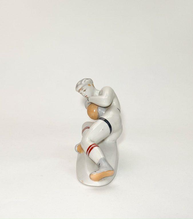 Фарфоровая статуэтка Вратарь Вид 2