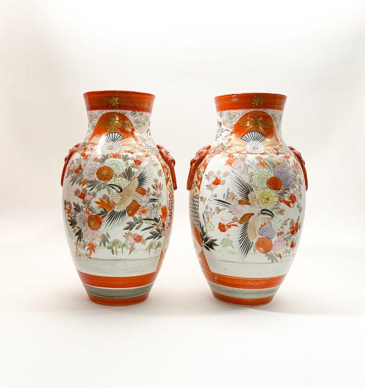 Пара старинных японских ваз Кутани Вид 2