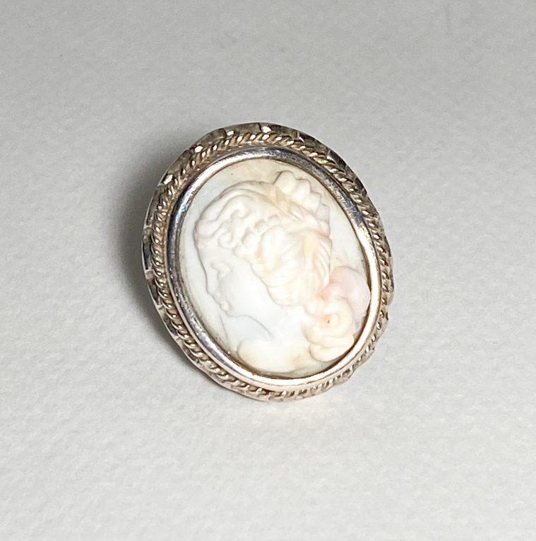 Серебряное кольцо Камея Вид 4