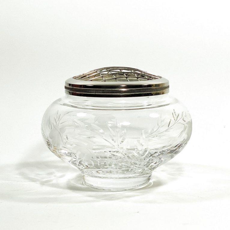 Хрустальная ваза роузбол Вид 1