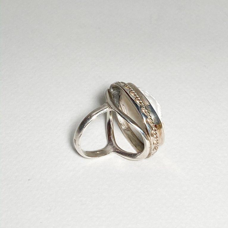 Серебряное кольцо Камея Вид 1