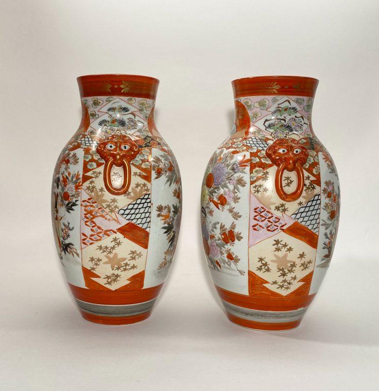 Пара старинных японских ваз Кутани Вид 1