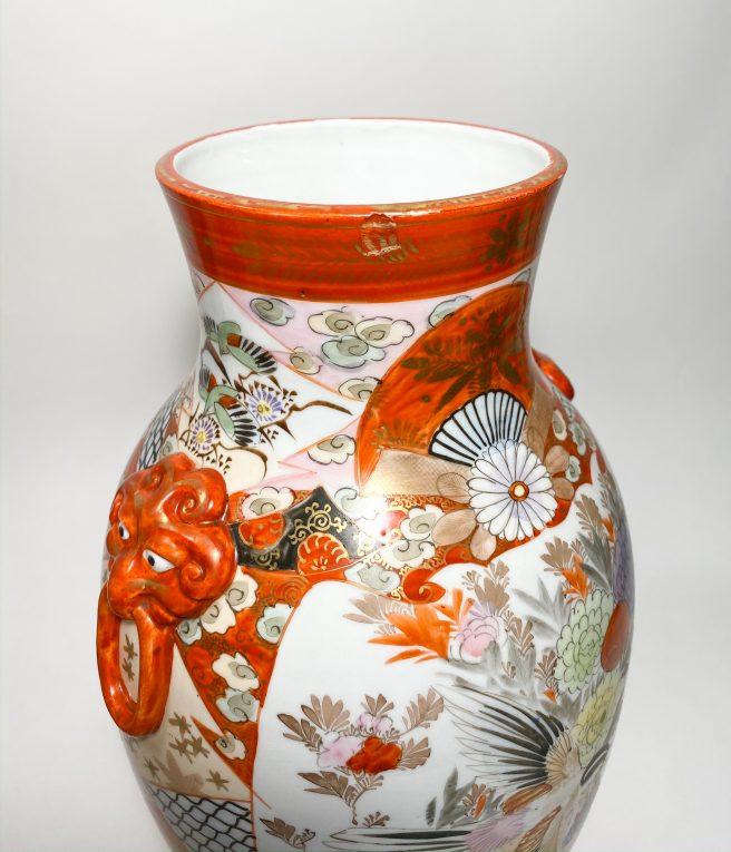 Пара старинных японских ваз Кутани Вид 3