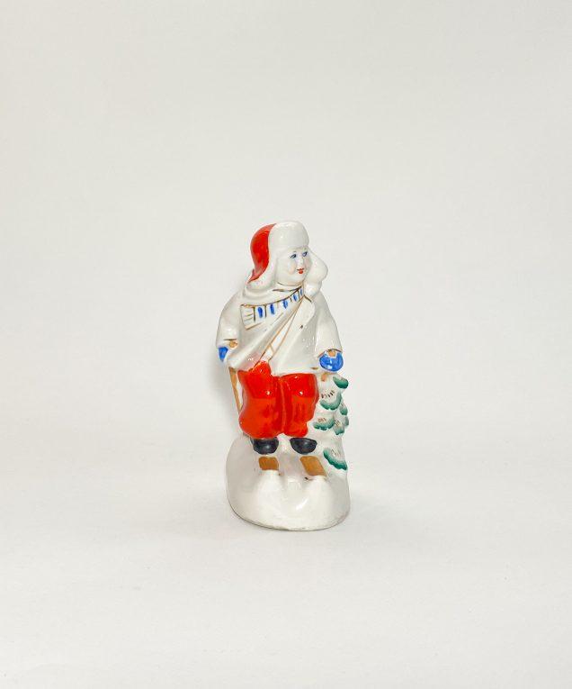Фарфоровая статуэтка Лыжник СССР Вид 1