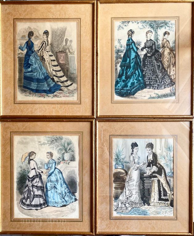 Старинная литография Франция 1875 год Вид 2