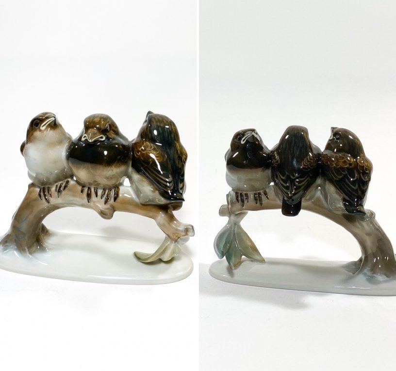 Фарфоровая статуэтка Птенцы на ветке Rosenthal Вид 3