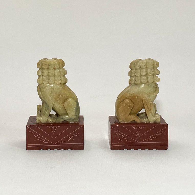 Пара статуэток Собаки Фоо мыльный камень Вид 2