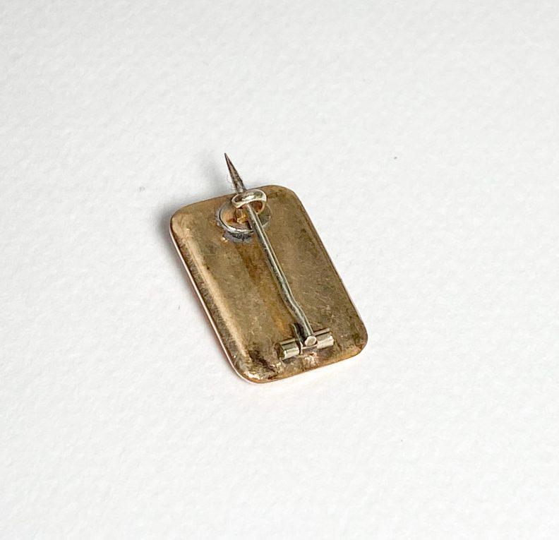 Миниатюрная брошь с крестом и жемчужиной Вид 2