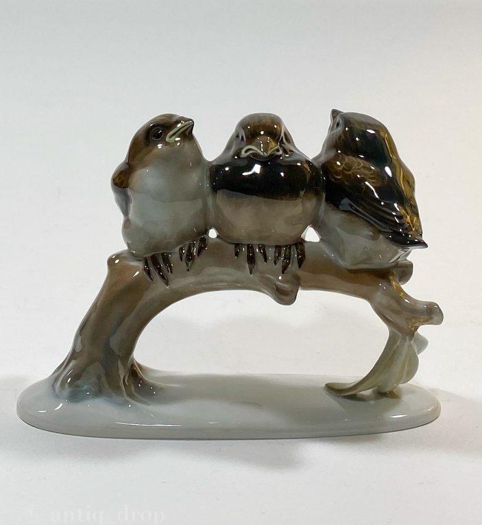 Фарфоровая статуэтка Птенцы на ветке Rosenthal Вид 4