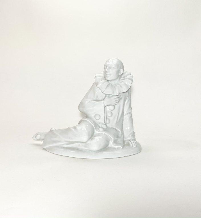 Фарфоровая статуэтка Клоун Вид 3