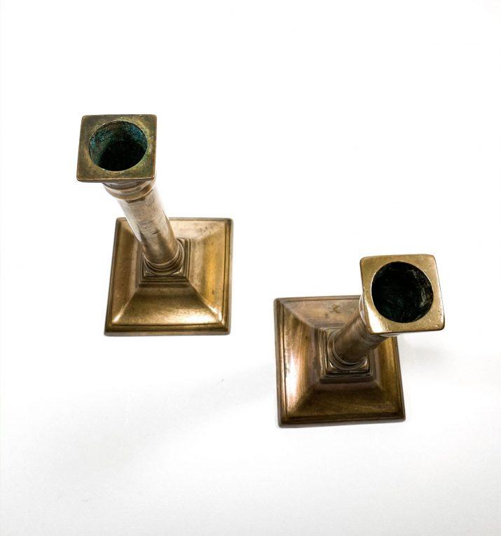 Пара подсвечников бронза Франция 19 век Вид 1