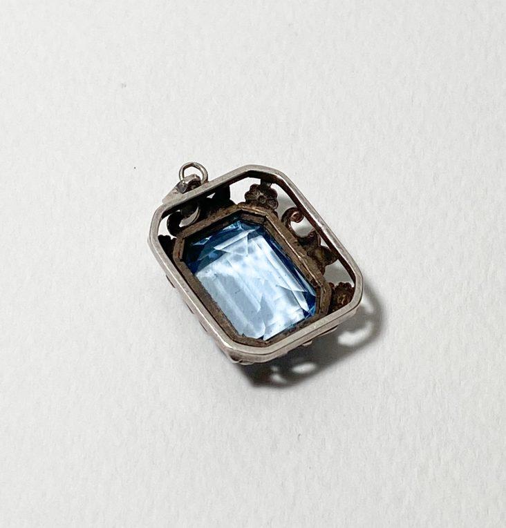 Серебряный кулон с кристаллом Вид 1