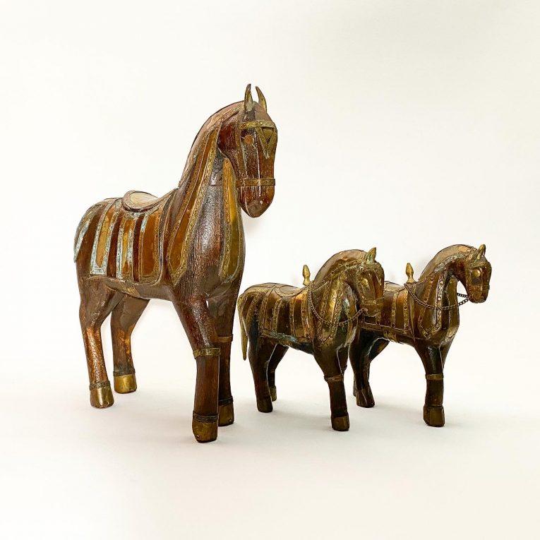 Набор деревянных лошадок Вид 1