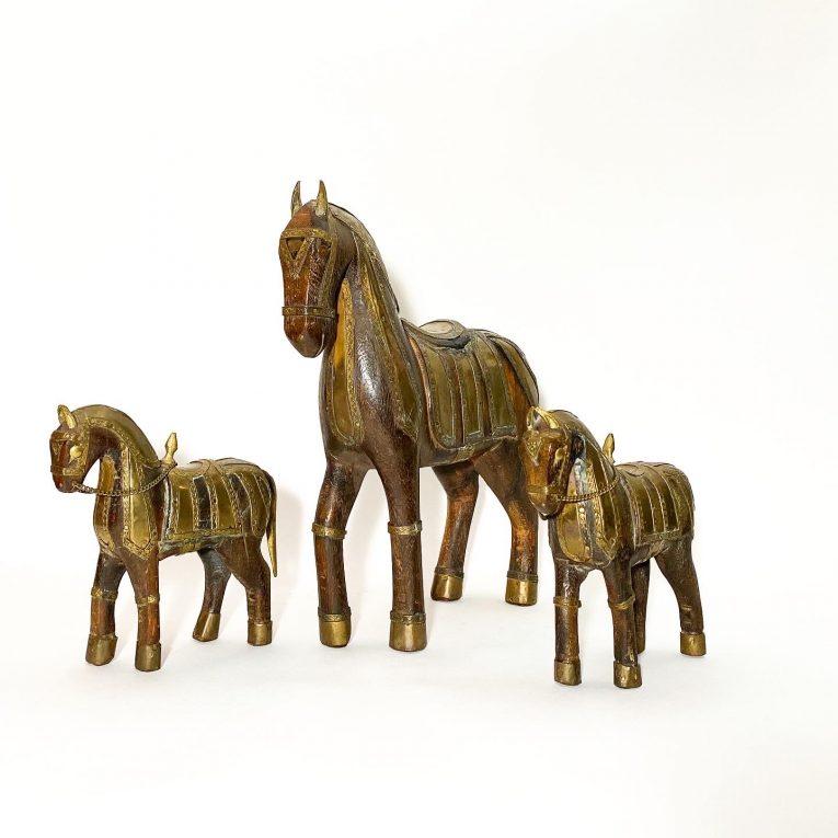 Набор деревянных лошадок Вид 3