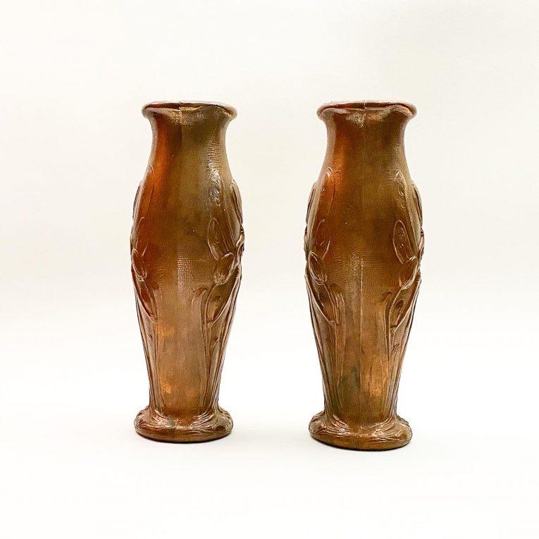 Пара французских ваз Ар Нуво Вид 1
