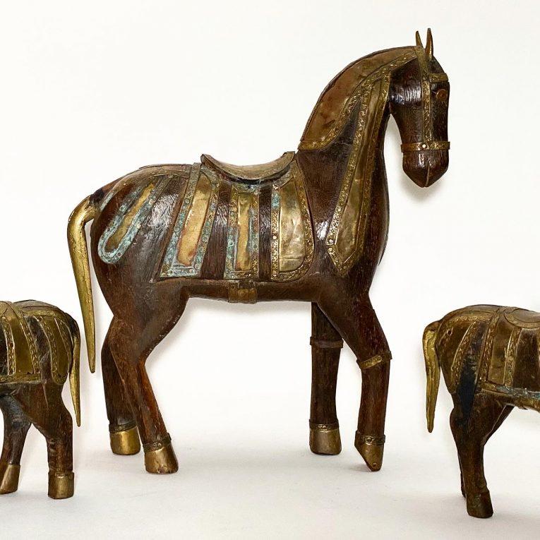 Набор деревянных лошадок Вид 2