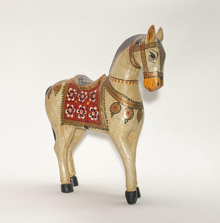 Деревянная лошадка с росписью Вид 1