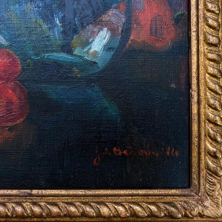Натюрморт с овощами и стеклянной посудой Вид 2