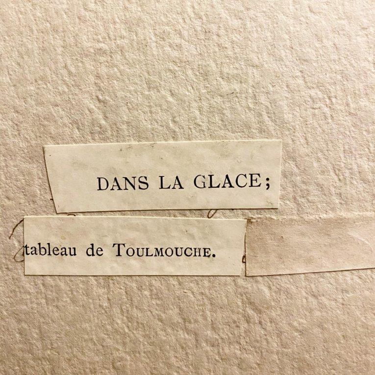 Цветная литография Перед зеркалом Франция Вид 2