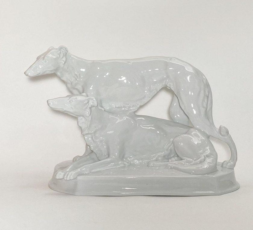 Фарфоровая статуэтка Борзые Meissen Teichert Вид 2