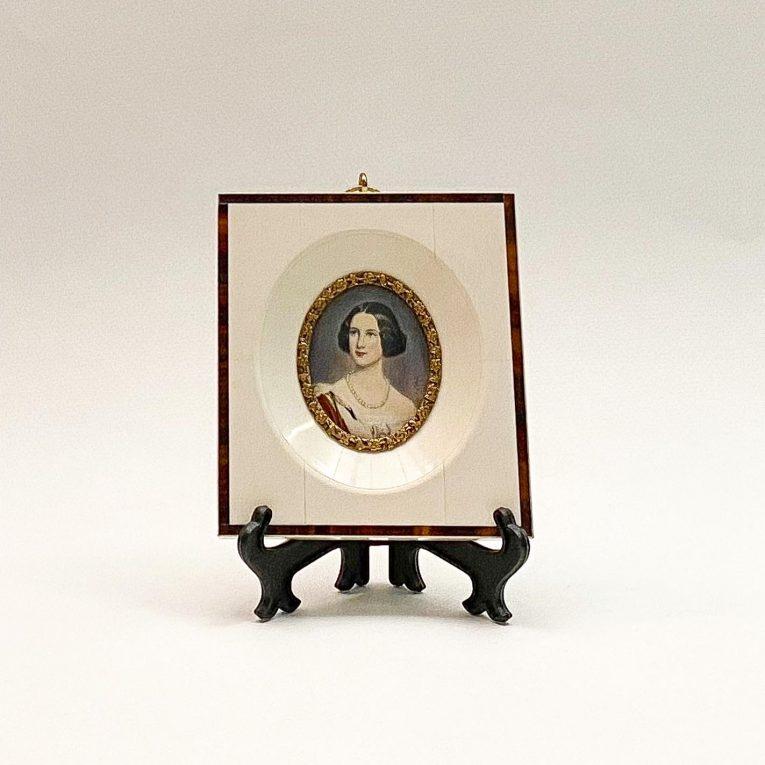 Живописная миниатюра портрет Принцессы Марии Баварской Вид 1