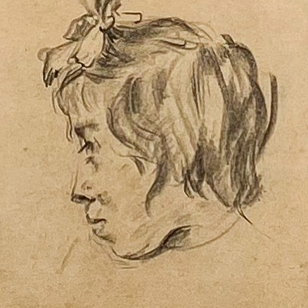 Рисунок Голова девочки Вид 1