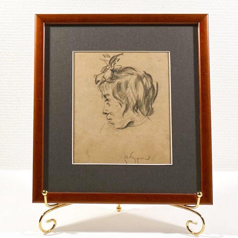 Рисунок Голова девочки