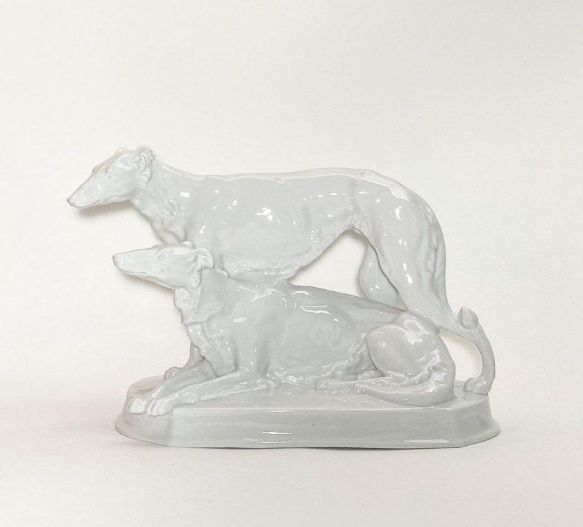 Фарфоровая статуэтка Борзые Meissen Teichert