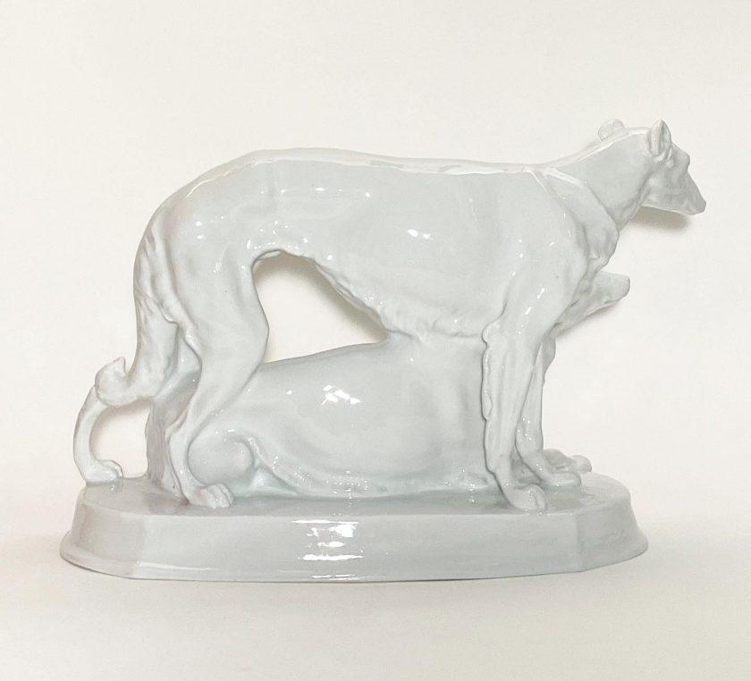 Фарфоровая статуэтка Борзые Meissen Teichert Вид 1